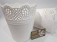 Горшок пластмассовый кружевной Lace 16 см, фото 1