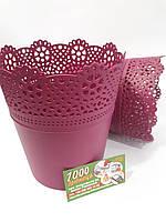 Горшок пластмассовый кружевной Lace 14 см
