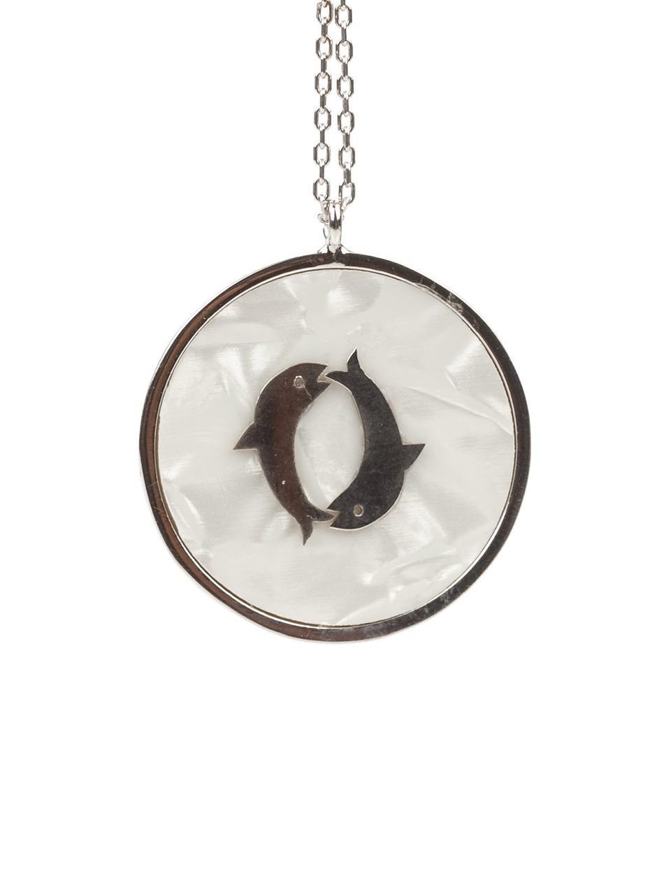 Колье  серебряное с перламутром