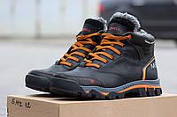 Кожаные зимние мужские ботинки Merrell черные