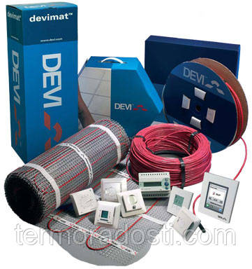Теплый пол DEVI (греющий мат под плитку, кабель в стяжку)