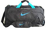 Спортивная сумка Nike. Дорожная сумка. Сумки Найк. Сумка в спортзал. Сумка с отделом для обуви., фото 4