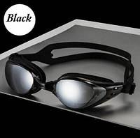 Профессиональные очки для плавания под водой черные