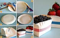 Из тарелки - корзинка для ягод