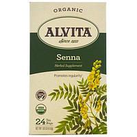 Alvita Teas, Organic, чай с сенной, без кофеина, 24 чайных пакетика по 1,61 унции (45,6 г) каждый