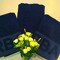 Турецкое банное полотенце темно синее