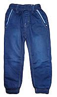 Джинсовые брюки на флисе для мальчиков оптом, Grace,98-128 рр., арт.72352