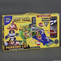 """Детский игровой гараж ZY 641  """"Robot Trains"""", 2 машины"""