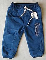 Теплые детские джинсы на махре для мальчиков 2-4 года