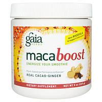 Gaia Herbs, Maca Boost, настоящий какао и имбирь, 8 унций (227 г)