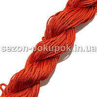 (25метров) Шнур капроновый (шамбала) 1мм Цвет- КРАСНЫЙ