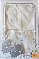 Комплект для новорожденной девочки из 10-ти шикарных вещей в подарочной коробке