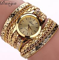 Часы наручные женские с золотистым ремешком код 125