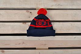Теплая шапка Dope / красная надпись