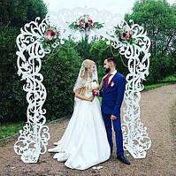 Деревянная свадебная арка