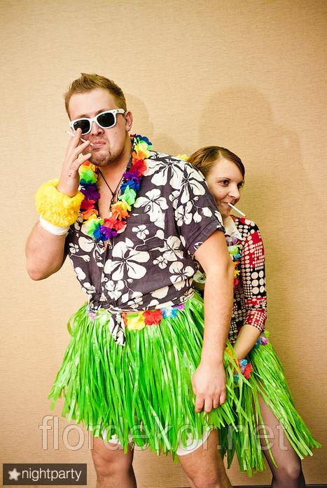 Гавайские веночки из цветов(лей)