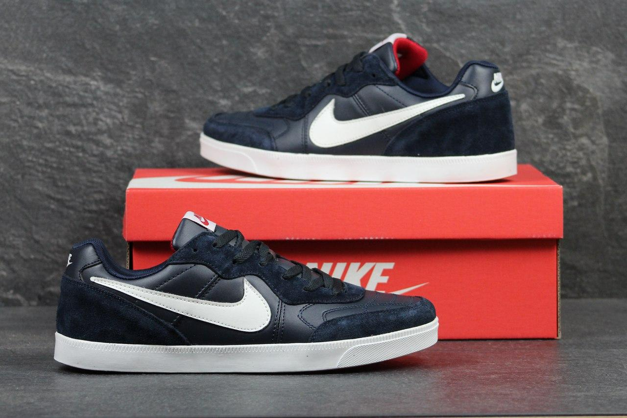 Мужские кроссовки Nike, темно синие с красным 44р