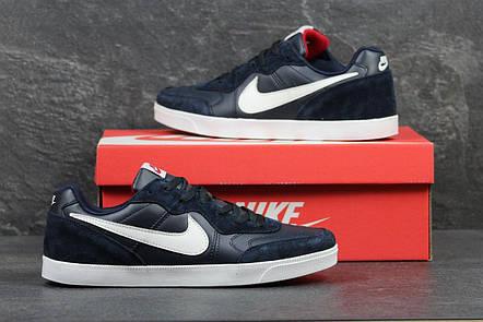 Мужские кроссовки Nike, темно синие с красным 44р, фото 2