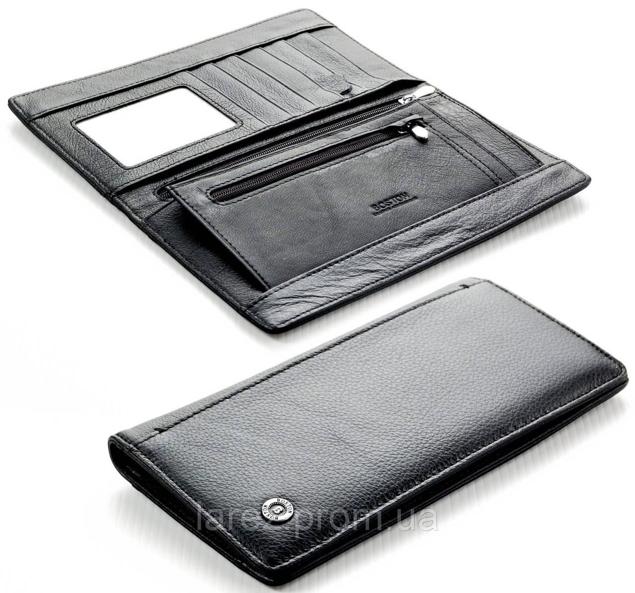 Мужской кожаный кошелек портмоне Boston на магните натуральная кожа ... 8b7a0ed7f5d