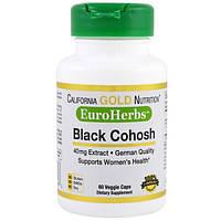 California Gold Nutrition, CGN, EuroHerbs, Клопогон Кистевидный, XT 40 мг, VC MB, 60 карат