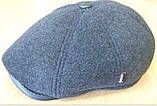 Кепка мужская тёмно серая из драпа воьмиклинка  57-58 59 размер, фото 2