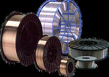 Прутки присадочні, припій, дріт для газозварювання та напівавтоматичного зварювання.