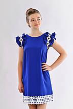 Шикарное молодежное нарядное платье с белым кружевом , фото 3
