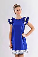 Шикарное молодежное нарядное платье с белым кружевом