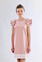 Шикарное молодежное нарядное платье с белым кружевом , фото 2