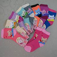 """Носки махровые для девочек M (2-4 года). """"Корона"""" . Детские  носки, носочки махровые  для детей"""
