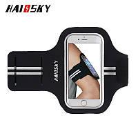 """Спортивный чехол на руку для смартфонов Sea & sky с диагональю до 5"""" дюймов черный, фото 1"""