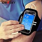 """Спортивный чехол на руку для смартфонов Sea & sky с диагональю до 5,5"""" дюймов сиреневый, фото 6"""