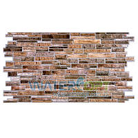 Листовые панели Камень Пластушка коричневая