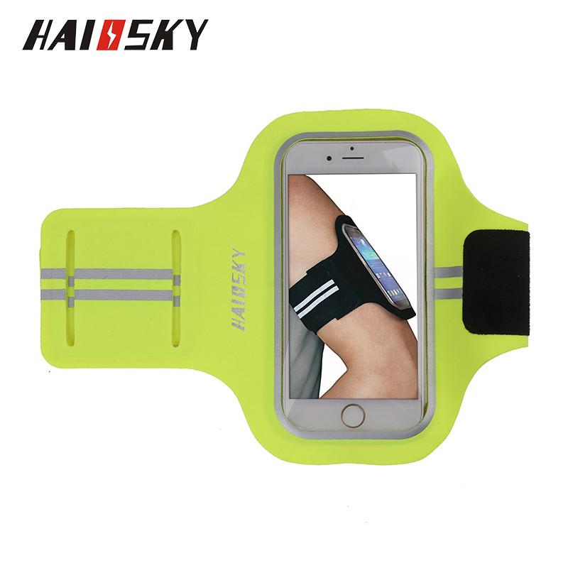 Спортивный чехол на руку для смартфонов Sea & sky размер телефона 16х8 см зелёный