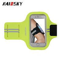 """Спортивный чехол на руку для смартфонов Sea & sky с диагональю до 5"""" дюймов зелёный, фото 1"""