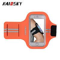 Спортивный чехол на руку для смартфонов Sea & sky размер телефона 14х7см оранж