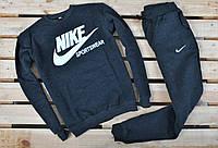 Штаны Nike на флисе темно-серые
