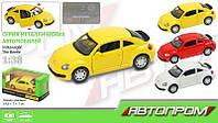Машина метал. Volkswagen Beetle 67321