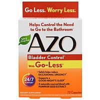 Azo, Контроль мочевого пузыря, со смесью Go-Less, 72 капсулы