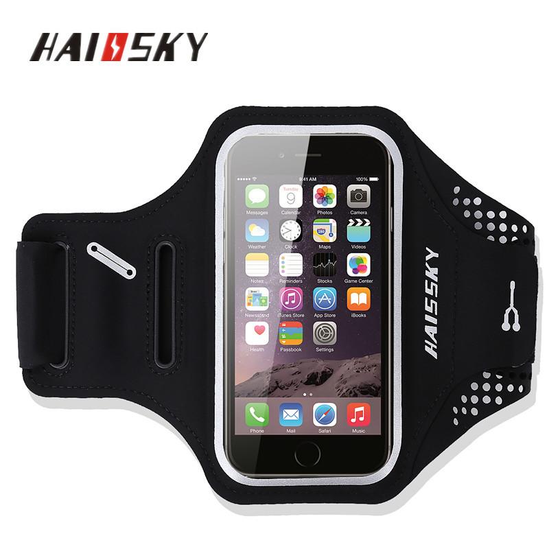 """Спортивный чехол на руку для смартфонов Sea & sky с диагональю до 5"""" дюймов черный"""