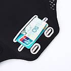 """Спортивный чехол на руку для смартфонов Sea & sky с диагональю до 5"""" дюймов черный, фото 3"""