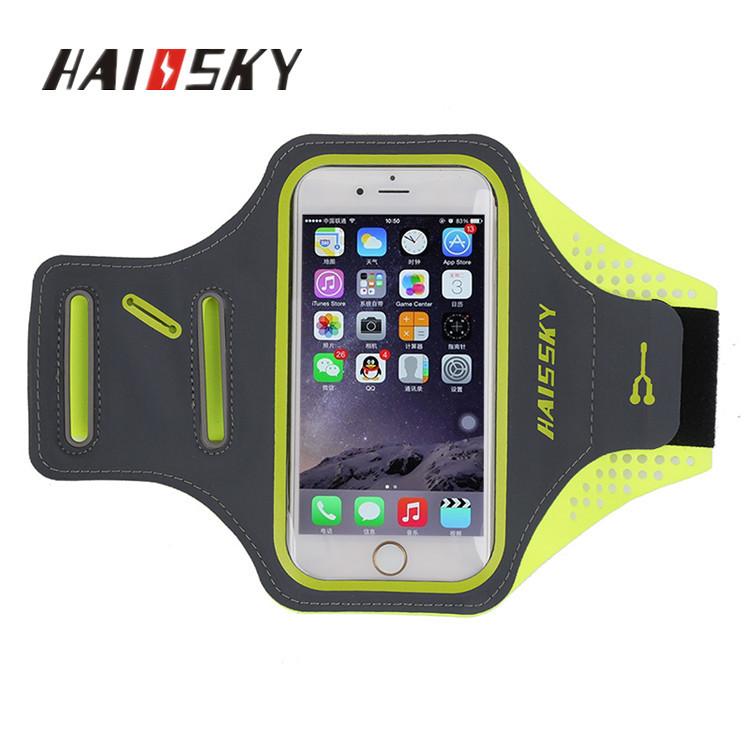 """Спортивный чехол на руку для смартфонов Sea & sky с диагональю до 5"""" дюймов зелёный"""