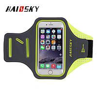 Спортивный чехол на руку для смартфонов Sea & sky размер телефона 14х7 см зелёный