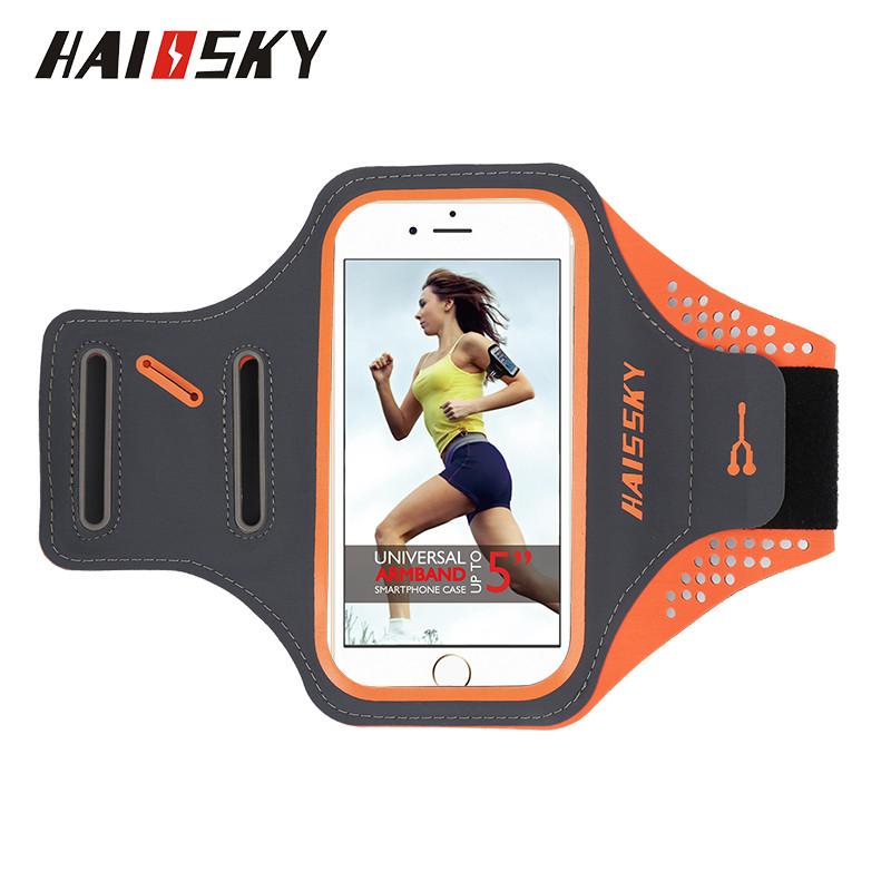 """Спортивный чехол на руку для смартфонов Sea & sky с диагональю до 5"""" дюймов оранж"""