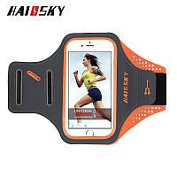 """Спортивный чехол на руку для смартфонов Sea & sky с диагональю до 5,5"""" дюймов оранжевый, фото 1"""