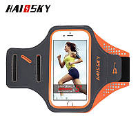Спортивный чехол на руку для смартфонов Sea & sky размер телефона 14х7 см оранж