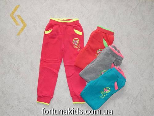 Трикотажные  спортивные брюки с начесом для девочек SINCERE 98-128  р.р.