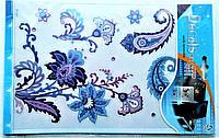 Наклейка на ноутбук со стразами.