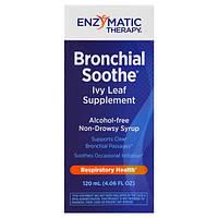Enzymatic Therapy, Успокоение бронхов, добавка с листом плюща, 3.4 жидких унции (100 мл)