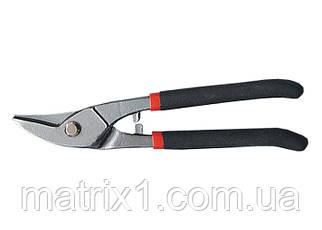 Ножиці по металу, 225 мм, для фігурного різання, обливные рукоятки // MTX